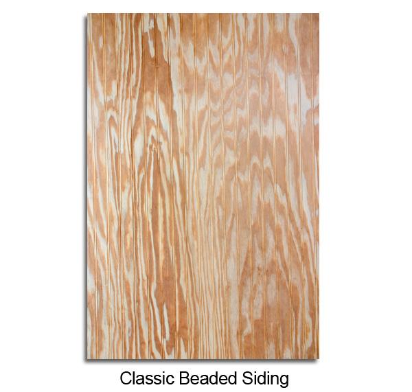 Classic Beaded Siding Coastal Plywood Wainscoting
